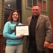 Kiley Walch Receives City of Belding Good Neighbor Award